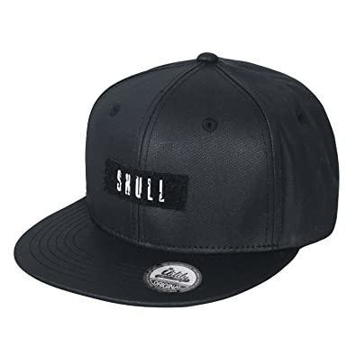 ililily Velcro Patch Baseball Cap Black Strap Back Flat Bill Trucker ... d8b4d71cb72
