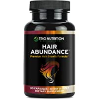 Biotin 10,000 mcg - Hair Vitamins for Hair Growth | Hair Abundance is a Hair Treatment Supplement Pill Boosted with Fresh Collagen, Keratin, Bamboo - Thicker Eyelashes for All Hair Types Women & Men*