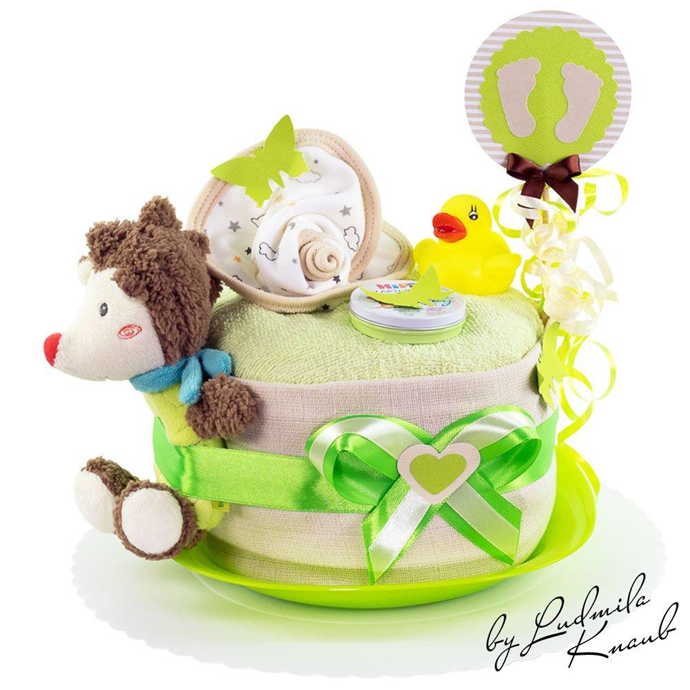 G/âteau g/âteau//Pampers Couches  cadeau pour b/éb/é gar/çon dans un beau Marron//vert ton////Cadeau pour la naissance bapt/ême baby party////Cadeau Original et Pratique Pour B/éb/é