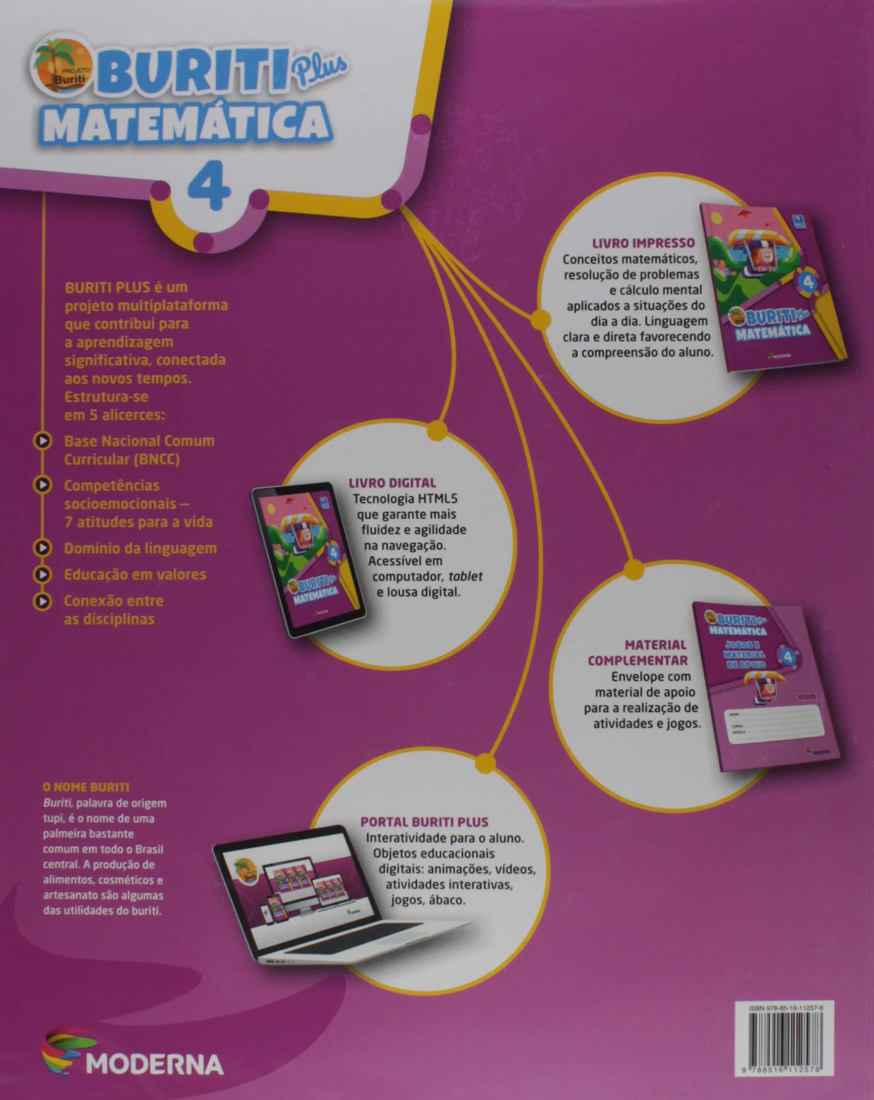 Buriti Plus Matematica 4º Ano Varios Autores 9788516112578 Amazon Com Books