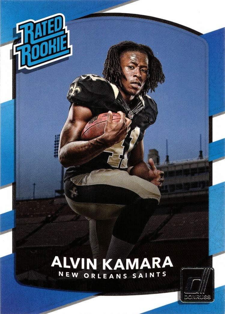 Rated Rookie 2017 Panini Donruss Football #349 Alvin Kamara Rookie Card