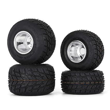amazon com bestauto go kart tires and rims 10x4 50 5 front 11x6 0 5amazon com bestauto go kart tires and rims 10x4 50 5 front 11x6 0 5 rear go kart wheels and tires sets of 4 automotive