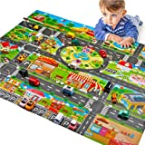 Children Play Mats House Traffic Road Signs Car Model Parking City Scene Map