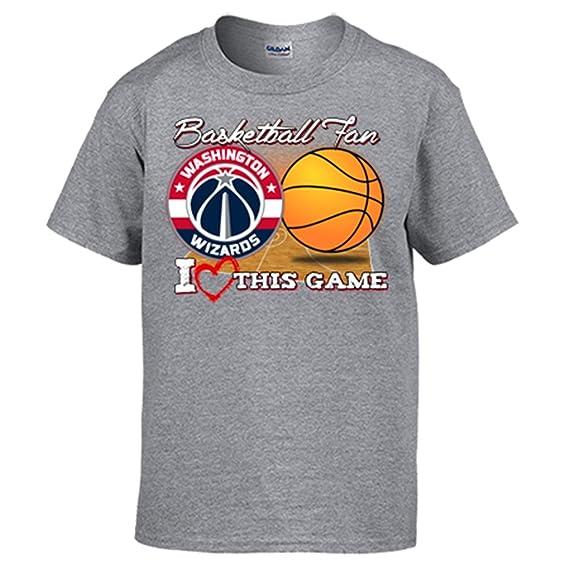 Camiseta NBA Washington Wizards Baloncesto Basketball Fan I Love This Game - Gris, L: Amazon.es: Ropa y accesorios