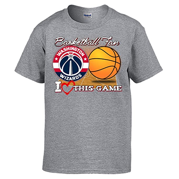 Camiseta NBA Washington Wizards Baloncesto Basketball Fan I Love This Game - Gris, L: Amazon.es: Ropa y accesorios