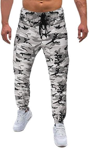 MODCHOK Hombre Pantalones Largos Camuflaje Jogger Chándal ...