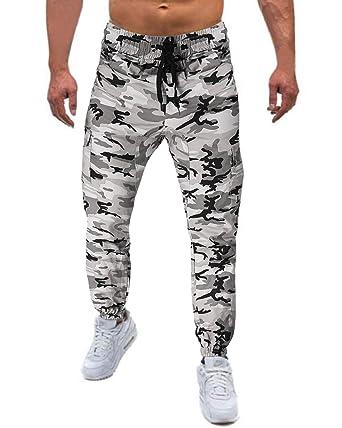 MODCHOK Hombre Pantalones Largos Camuflaje Jogger Chándal Pants ...