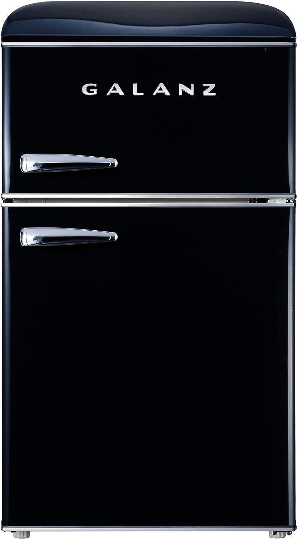 Galanz GLR31TBKER Retro Refrigerator, 3.1 Cu Ft, Black