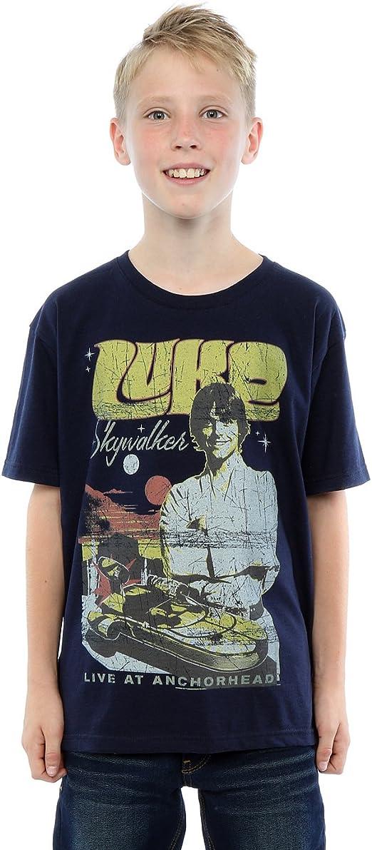 Star Wars Niños Luke Skywalker Rock Poster Camiseta: Amazon.es: Ropa y accesorios