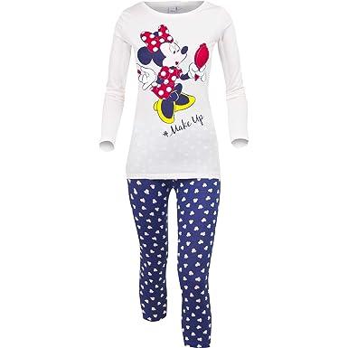 cb41f4c616 Disney Minnie Mouse Womens Ladies Long Sleeve Pyjamas Pjs Loungewear 100%  Cotton XS S M L - New 2017 18  Amazon.co.uk  Clothing
