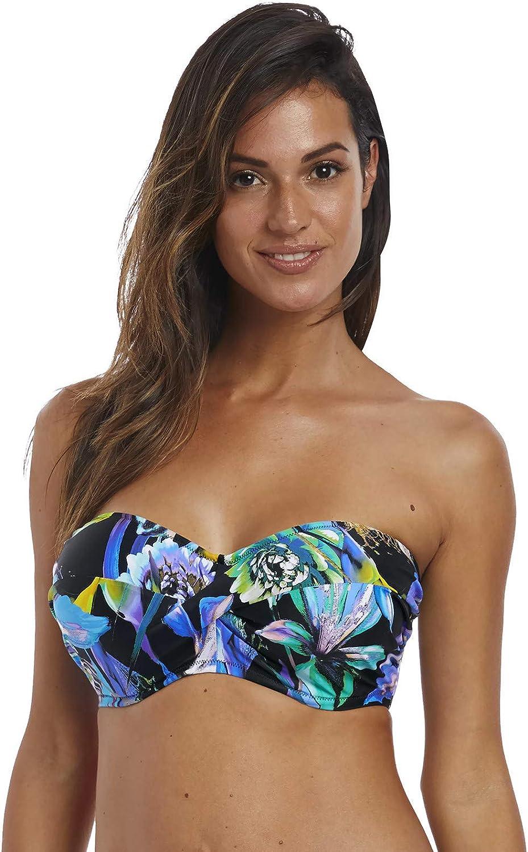 Mehrfarbig Fantasie Paradise Bay Bandeau Bikinioberteil