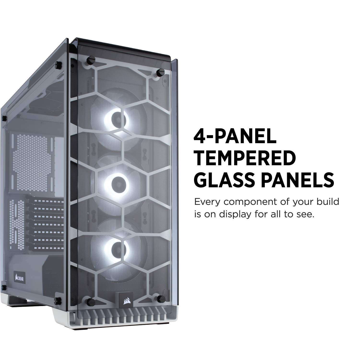 Corsair Crystal 570x Rgb Mid Tower Case 3 Fans Tempered Glass Black White Cc 9011110 Ww Computer Cases Electronics Tibs