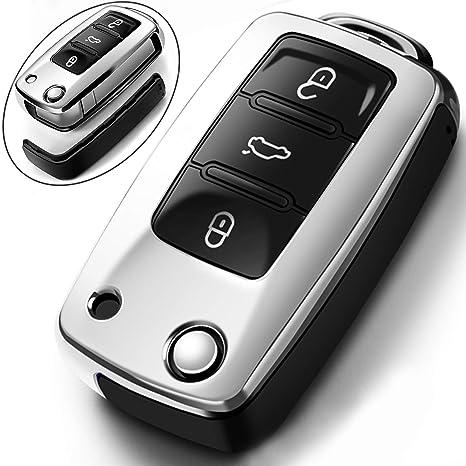 San Tan VW >> Intermerge For Vw Volkswagen Key Fob Cover For Vw Jetta Polo Tiguan Beetle Golf Gti R Mk6 5 Santan Passat Sharan Key Fob Case Skoda Octavia Rapid Soft