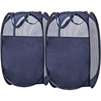 2-Pack STORAGE MANIAC Pop-Up Mesh Hamper with Carry Handles