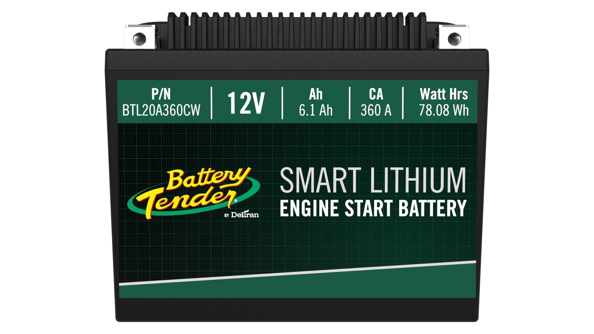 Battery Tender BTL20A360CW Supersmart BMS Lithium Battery, 12V 6.1Ah, 360CCA, Black