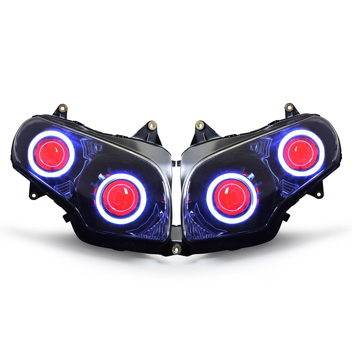 2016 Honda Goldwing >> Amazon Com Kt Led Angel Eye Headlight Assembly For 2013