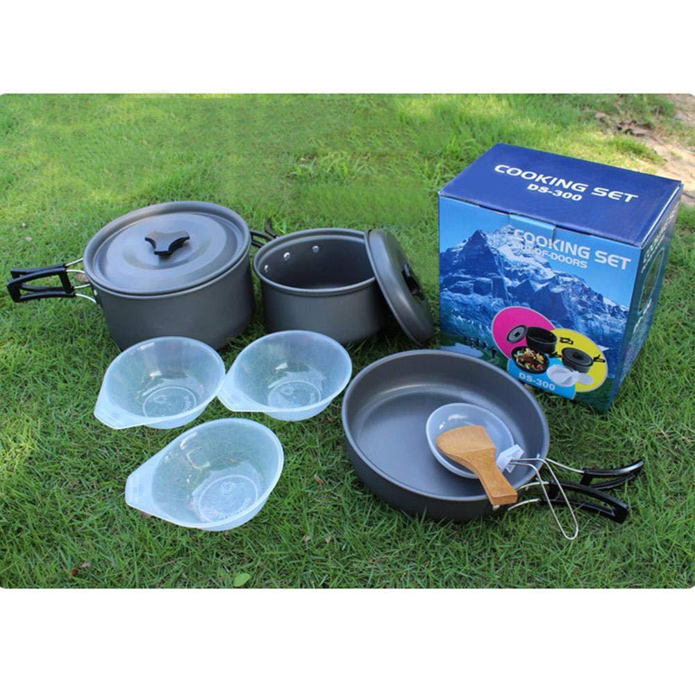 compactos y duraderos para sartenes. Accesorios Ligeros Blue-Yan Camping Utensilios de Cocina Senderismo al Aire Libre Equipo de Cocina Cookset