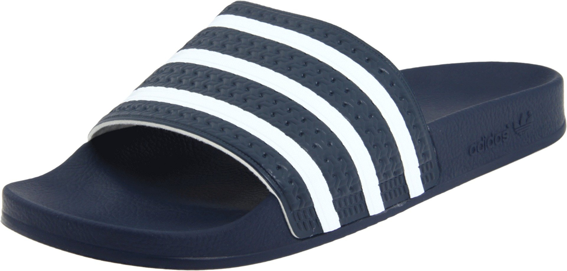 adidas Originals Men's Adilette Slide Sandal, Blue/White Blue,4 M