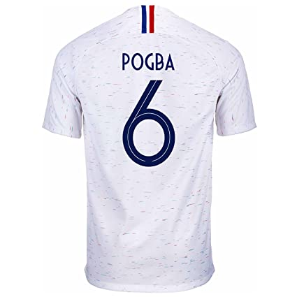 the latest 4ab8e c72a2 Amazon.com : Nike Pogba #6 France Away Men's Soccer Jersey ...