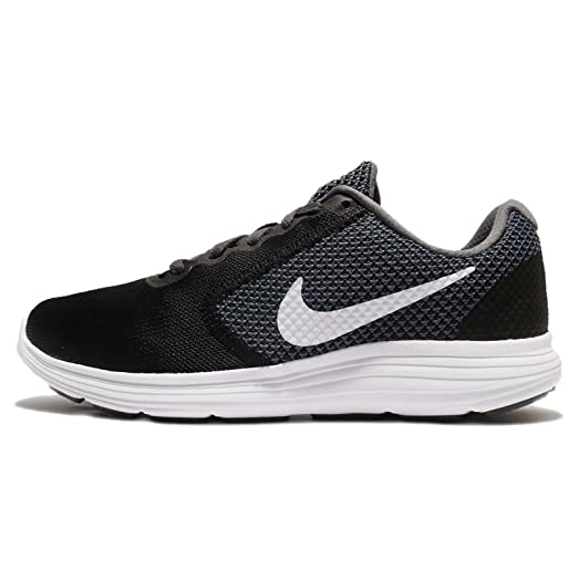 NIKE Women's Revolution 3 Running Shoe, Black/Grey, 5.5 B(M)