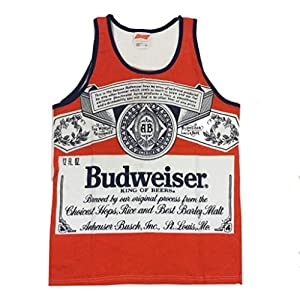 ba9fb11bc115a Amazon.com  Budweiser America Tank Top Medium Red  Clothing