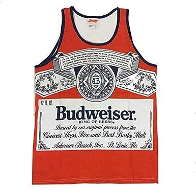 40264dcf Amazon.com: Calhoun Budweiser 88 Retro Label Mens Tank Top II: Clothing