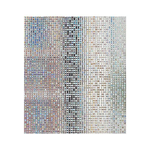 Mosaic Window Film Frosted Privacy Glass Covering Door Window Tint Peel And  Stick Stickers Static Heat