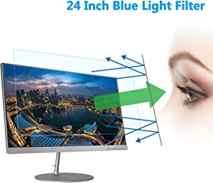"24"" Computer Anti Blue Light Screen Protector, Eye Protection Reduce Eye Fatigue and Eye Strain for 24 inches Widescreen Desktop Monitor"