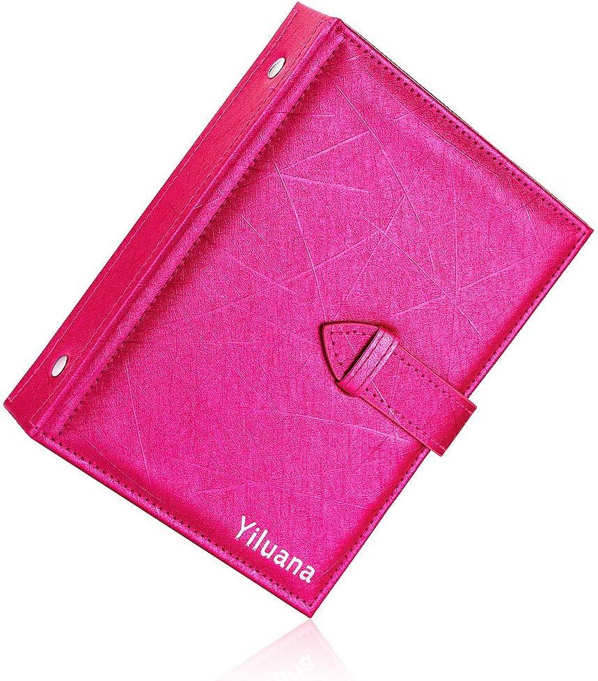 Portable Travel Jewelry Case Pu Leather Earring Holder with Book Design Csinos Organizer Medium Black