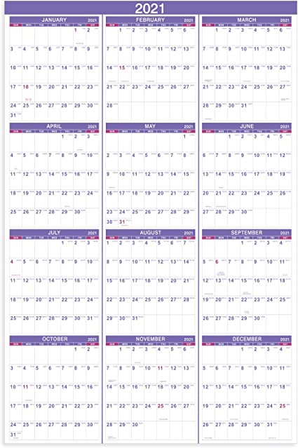 Free 2022 Wall Calendar By Mail.Amazon Com 2021 Yearly Wall Calendar 2021 Wall Calendar With Julian Date From January To December 2021 Thick Paper Vertical 34 8 X 22 8 Open Office Products