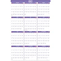 2021 Yearly Wall Calendar - 2021 Wall Calendar with Julian Date, From January to December 2021, Thick Paper, Vertical…