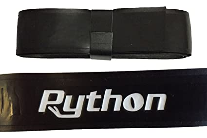 Python Deluxe Racquetball, Pickleball, Paddleball Replacement Wrap Grip  (Black, Blue, and White Colors)