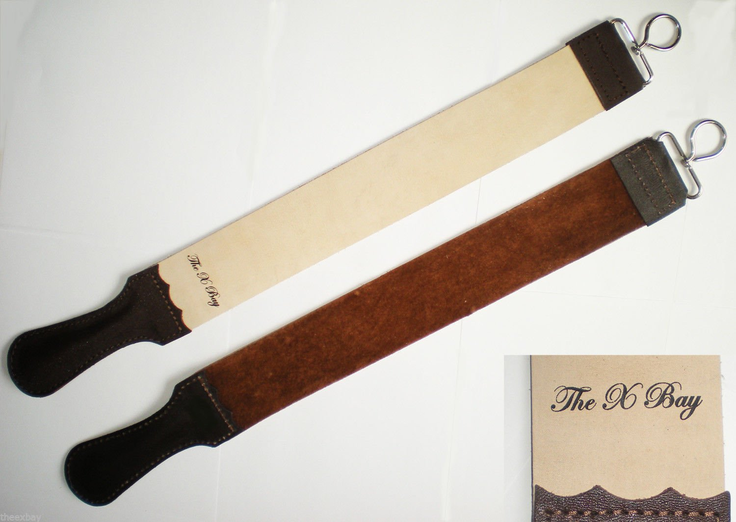 Professional Leather BARBER STROP Straight Razor Sharpener 2 X 20 The X Bay