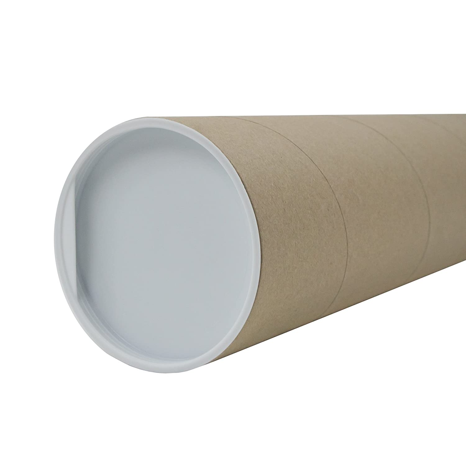 1 m shipping sleeve poster shipping tube 100 x 10 cm cardboard Itenga shipping roll and cover