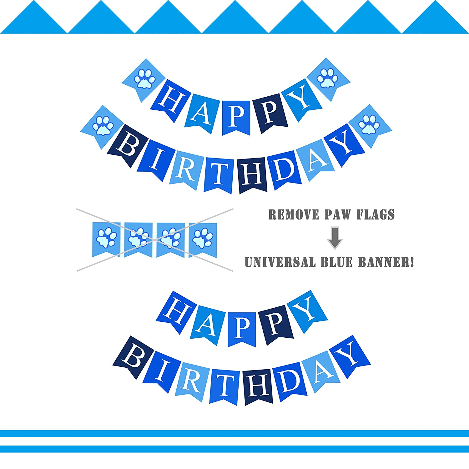 Birthday Cat Garland Kitties Bday Party Bunting Decoration Photographic Cat Faces Birthday Banner