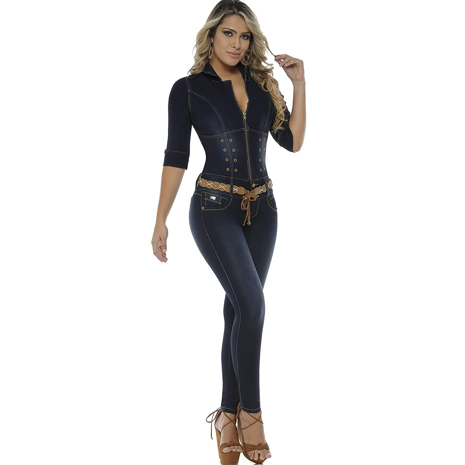 6ca73b827a89a BUTT LIFTING SKINNY JUMPSUITS FOR WOMEN  Heart shape seam on top of the  rear lifts and shapes the buttocks
