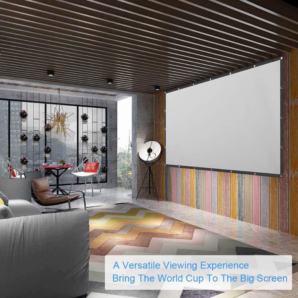 OSB STYLE 100 Pantalla de proyección de 120 Pulgadas Pliegue Antiarrugas Pantalla de proyección de Holograma portátil para proyector láser de Tiro Corto DLP,A,100inth: Amazon.es: Deportes y aire libre