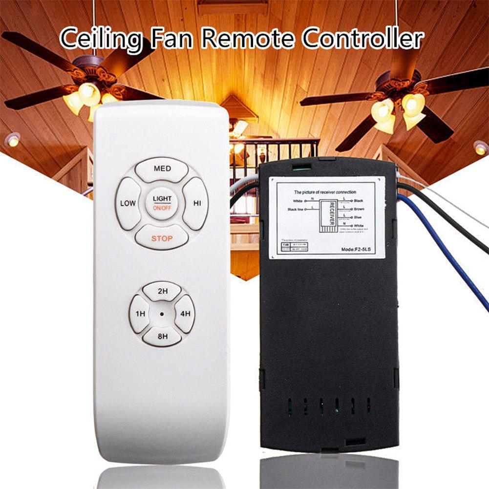 Kit de mando a distancia y receptor para ventilador de techo, 110 ...