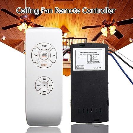 Universal Deckenventilator Lampe Fernbedienung Controller Kit + Timing  Kabellose Fernbedienung, Kann Eindringen Der Wand Sedensy