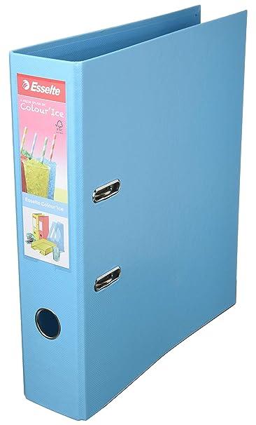 Esselte Archivador Palanca, Amarillo,A4, Lomo 75mm, Plástico, ColourIce, 626210: Amazon.es: Oficina y papelería
