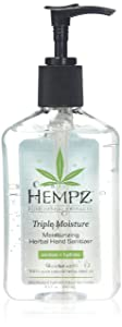 Hempz Triple Moisture Moisturizing Herbal Hand Sanitizer, 8.5 Ounce