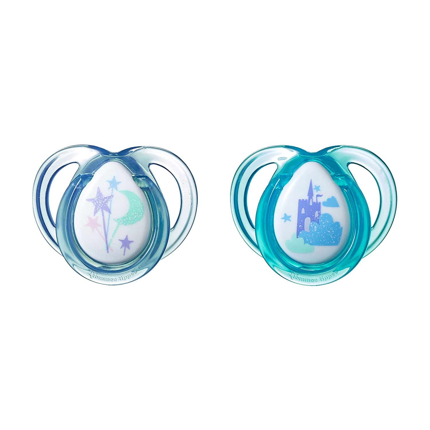 Tommee Tippee Closer To Nature Everyday Pacifier, Blue, 0-6 Months, 2 Count (Colors will vary) 533077
