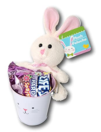 Easter Bunny Plush Animal Lifesavers Candy Gift Pail