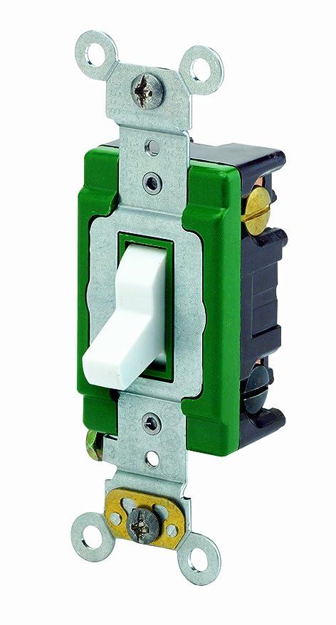 Leviton 3033-2W 30 Amp, 120/277 Volt, Toggle 3-Way AC Quiet Switch ...
