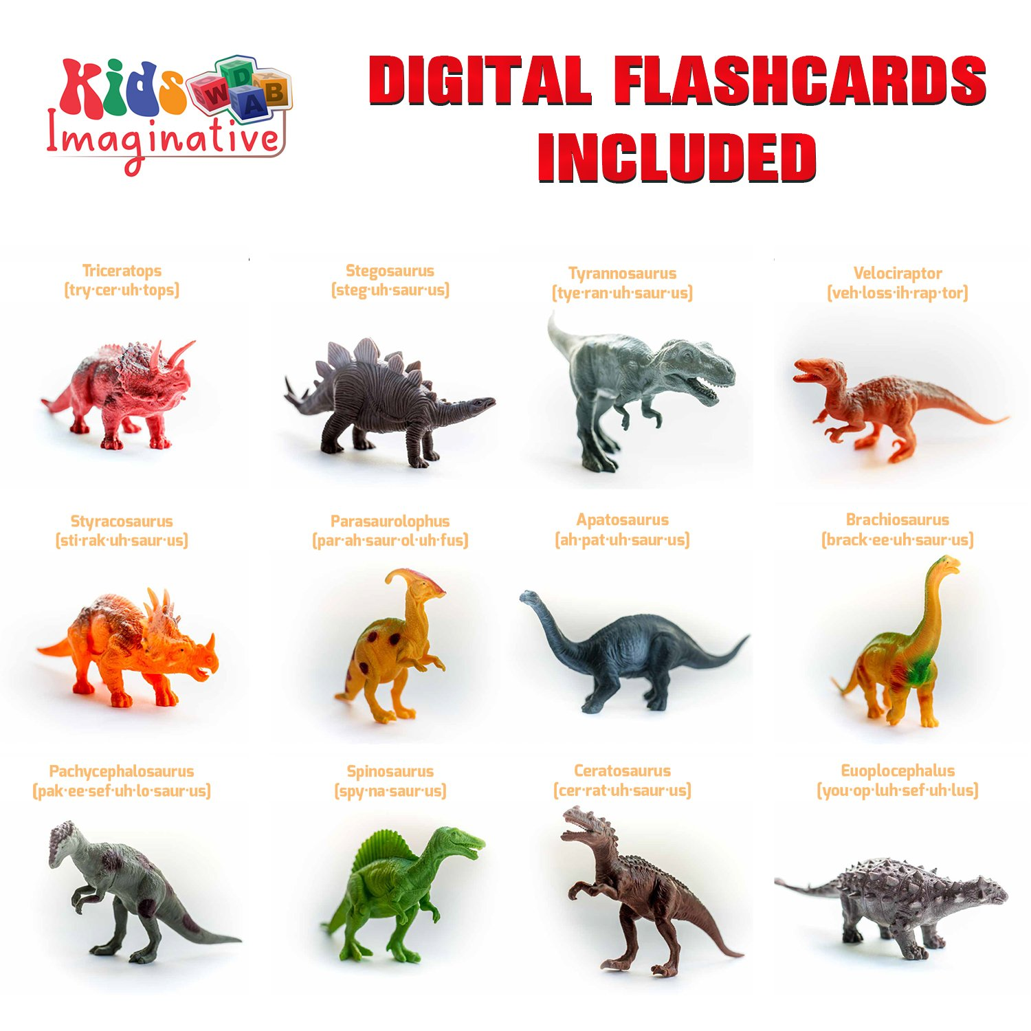 Amazon Kids Imaginative Dinosaurs Small & Plastic