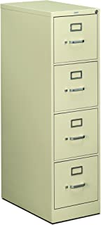 product image for HON 4-Drawer Filing Cabinet - 510 Series Full-Suspension Letter File Cabinet, 52 by 25-Inch, Putty (H514)