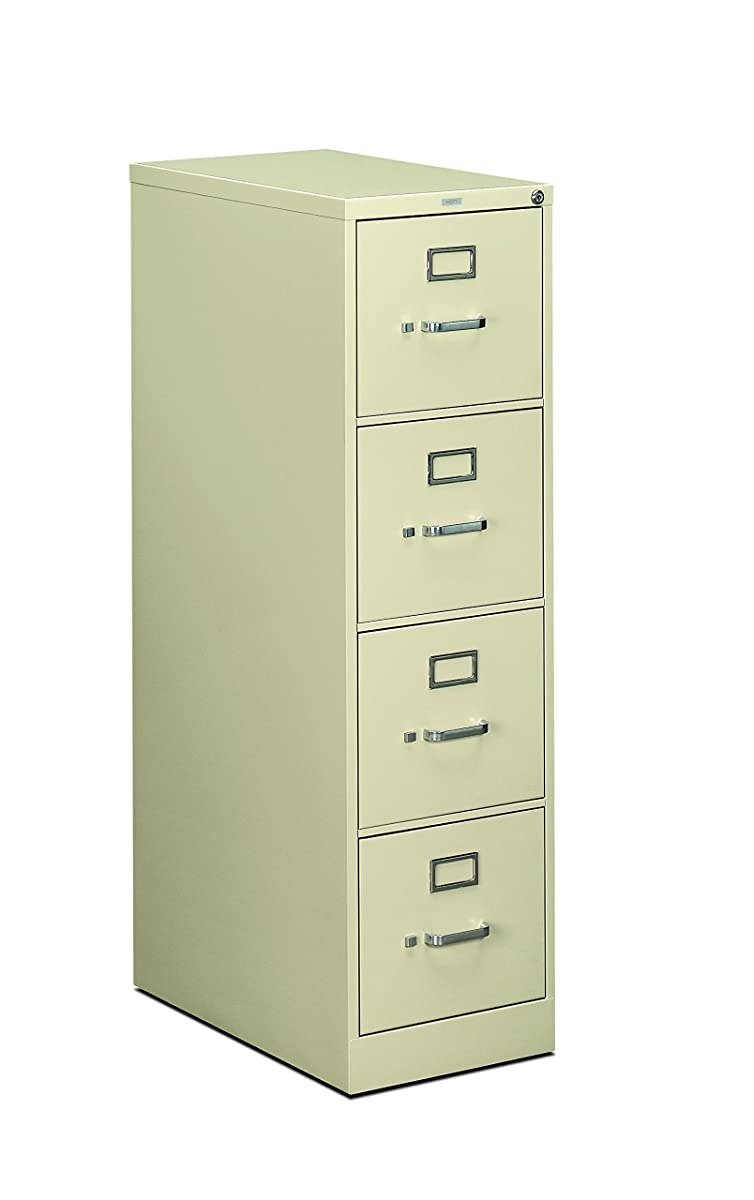HON 4-Drawer Filing Cabinet - 510 Series Full-Suspension Letter File Cabinet, 52 by 25-Inch, Putty (H514)
