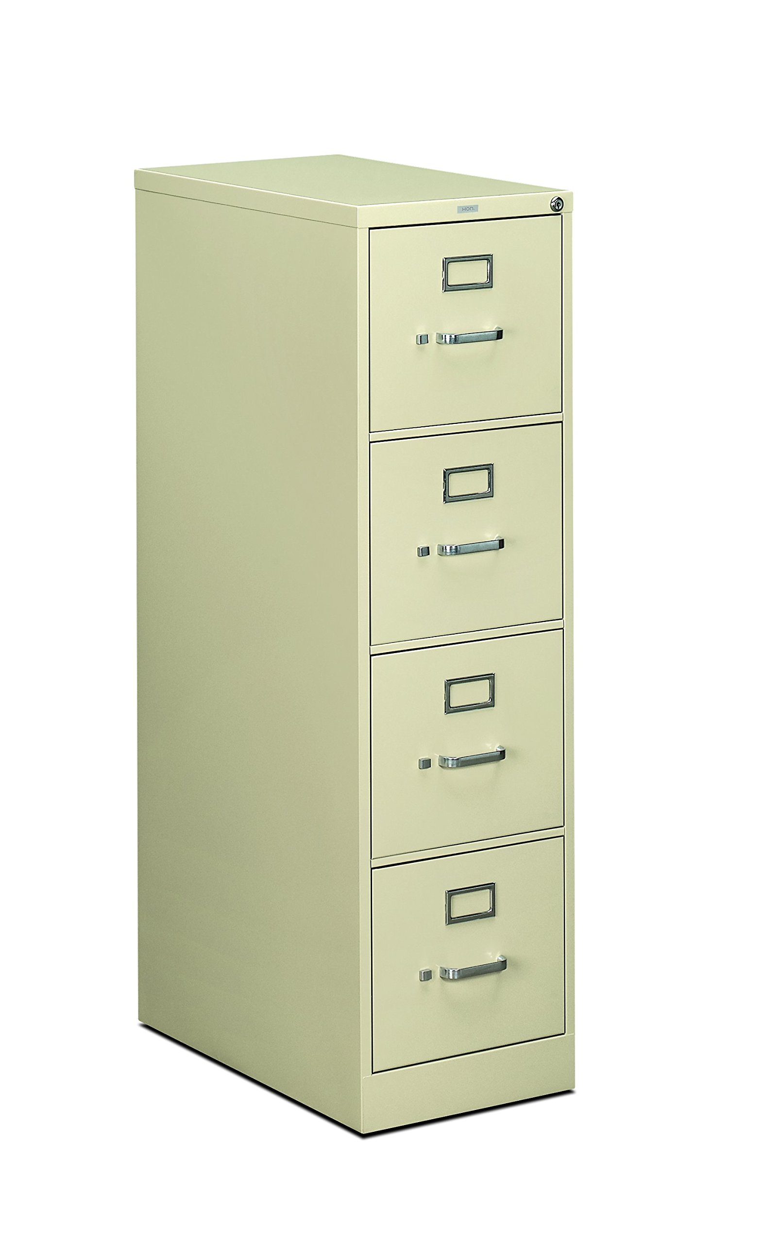 HON 4-Drawer Filing Cabinet - 510 Series Full-Suspension Letter File Cabinet, 52 by 25-Inch, Putty (H514) by HON
