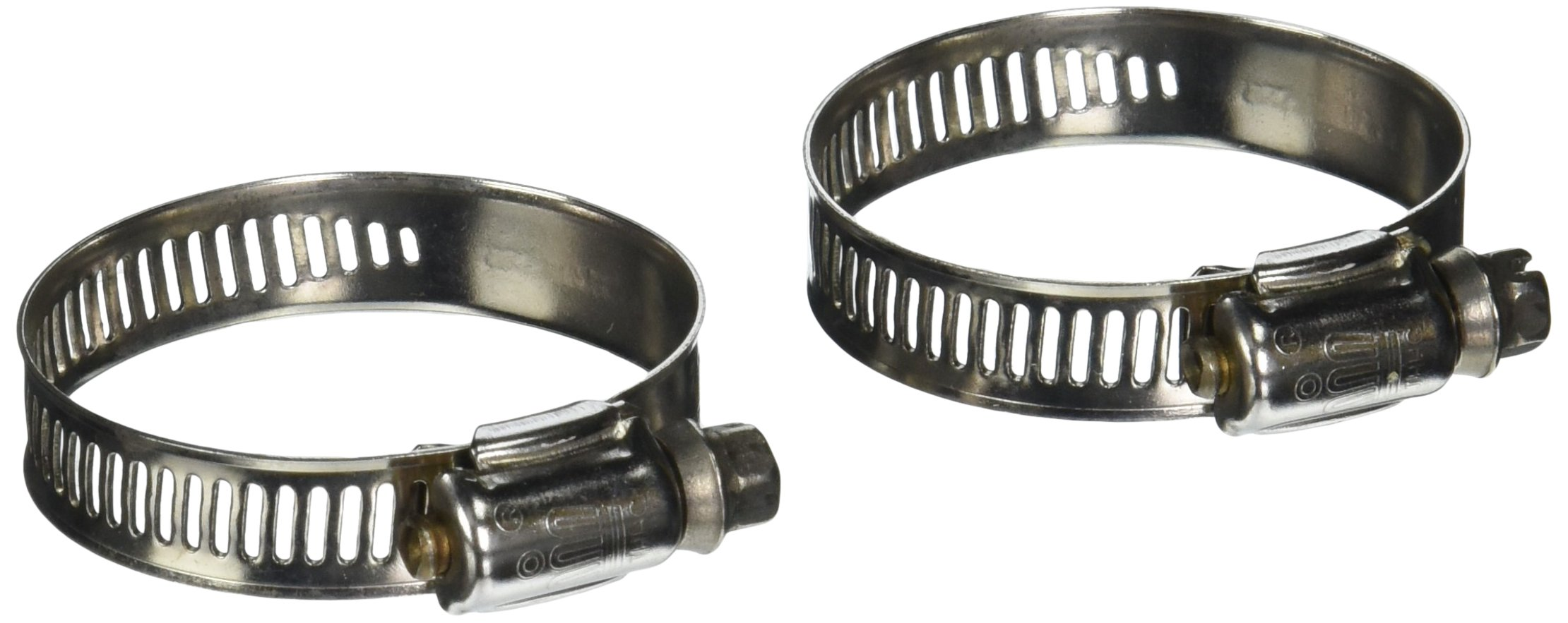 Laguna Stainless Steel Non-Kink Hosing Hose Clamp, 1-1/16 to 2-Inch, 2-Pack