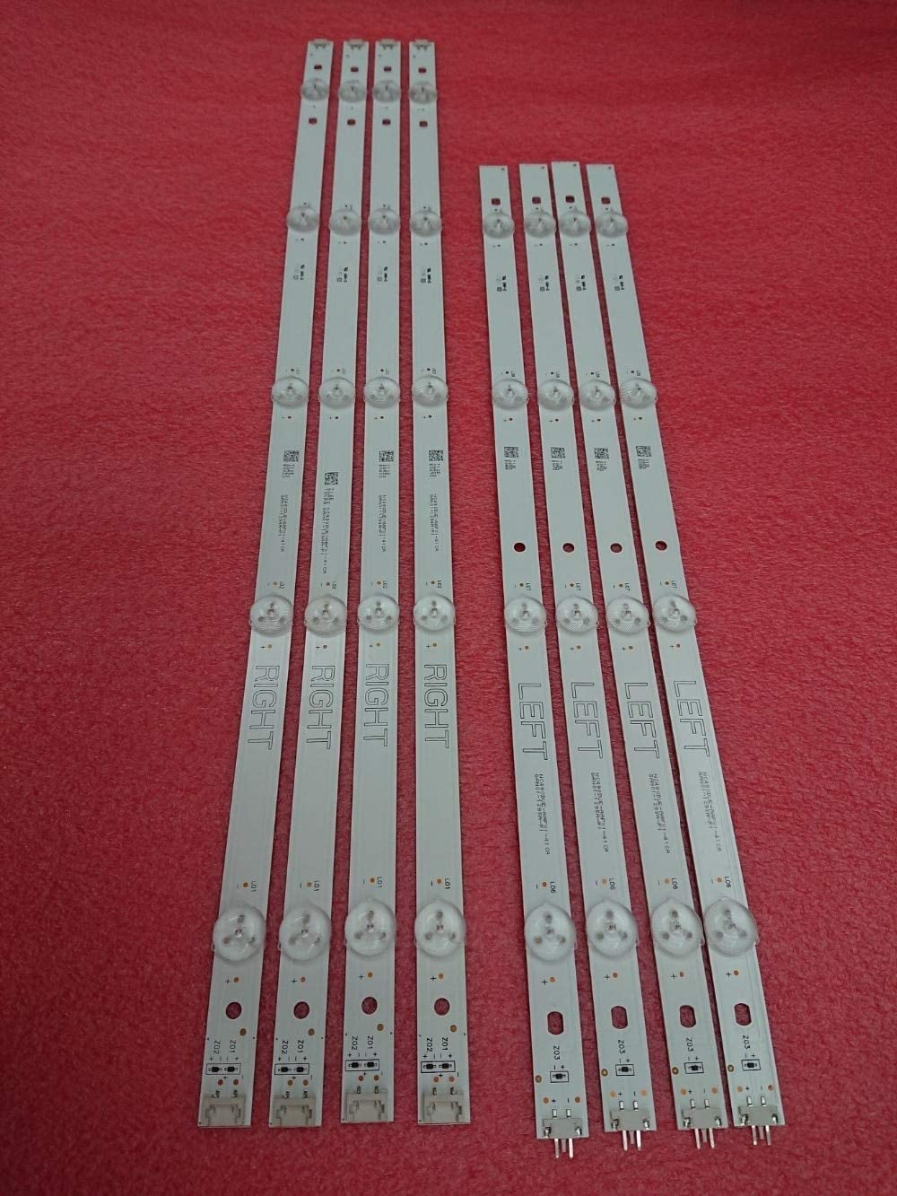 DIPU WULIAN 5set=40 PCS LED backlight strip for LG TV 49UJ630V 49LJ5500 NC490DUE-AAFX1-41CA GAN01-1294A-P1 GAN01-1295A-P1: Amazon.es: Iluminación